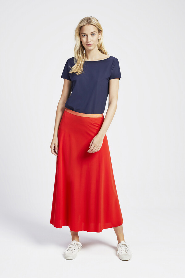 FLAIR SKIRT ORANGE