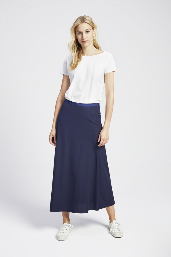 FLAIR SKIRT SMOKEY BLUE