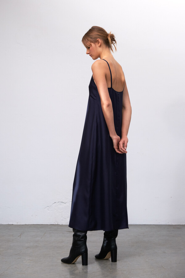 SILKY SLIPDRESS JANE MIDNIGHT BLUE