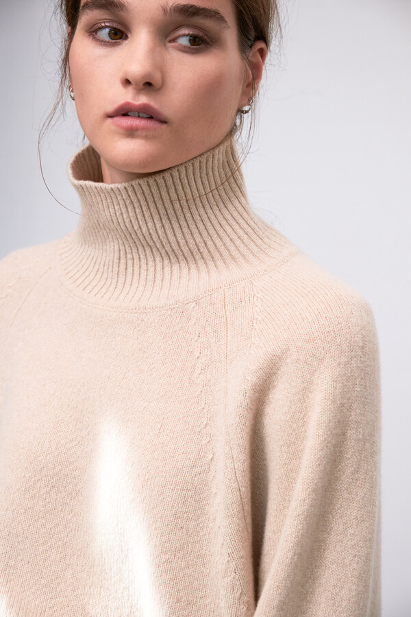 ECO CASHMERE TURTLE NEW IVORY