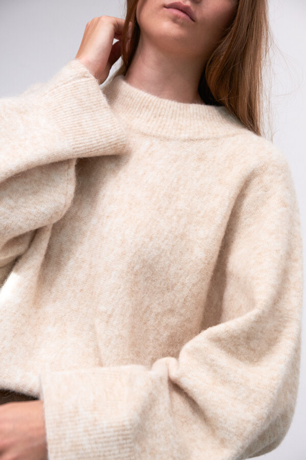 SOFT BRUSHED ALPACA KNIT SHEARLING