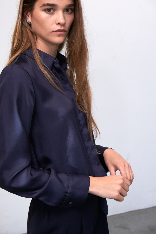 SILKY EDY BLOUSE MIDNIGHT BLUE
