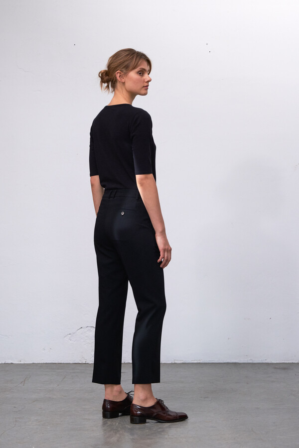 CROPPED DAISY PANTS BLACK