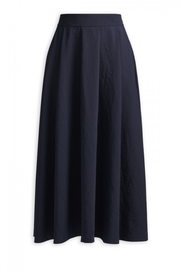 CREPE MAYFAIR SKIRT MIDNIGHT BLUE