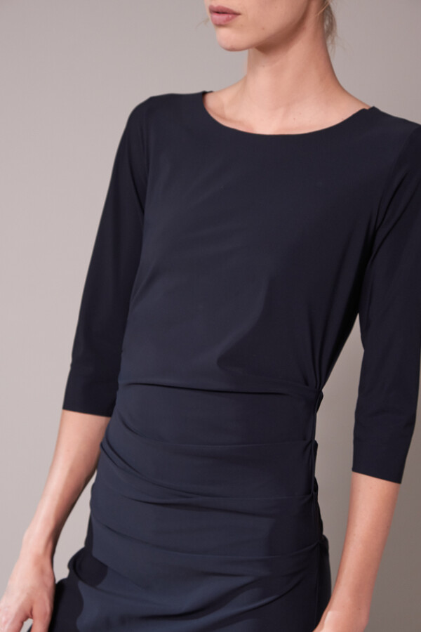 RUCHED DRESS BLACK