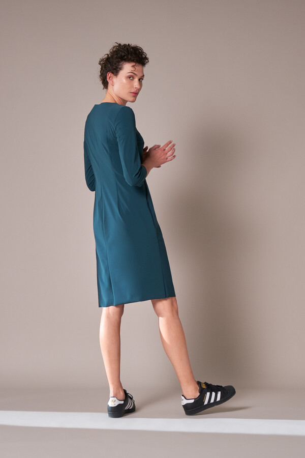 SERIOUS DRESS DEEP TEAL