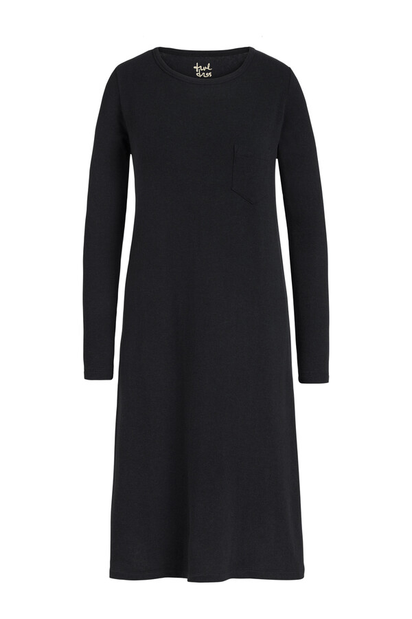 LONG SLEEVE TEE DRESS BLACK