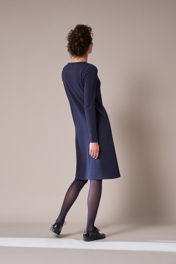 LONG SLEEVE TEE DRESS SOFT BLUE