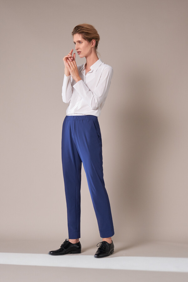 CASUAL DRAWSTRING PANTS DEEP BLUE