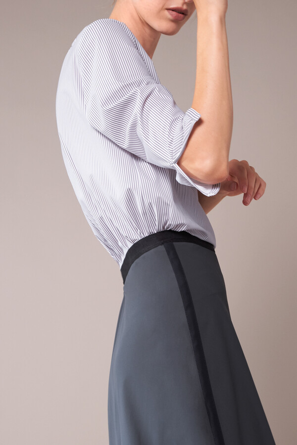 EASY FLAIR SKIRT STEEL GREY