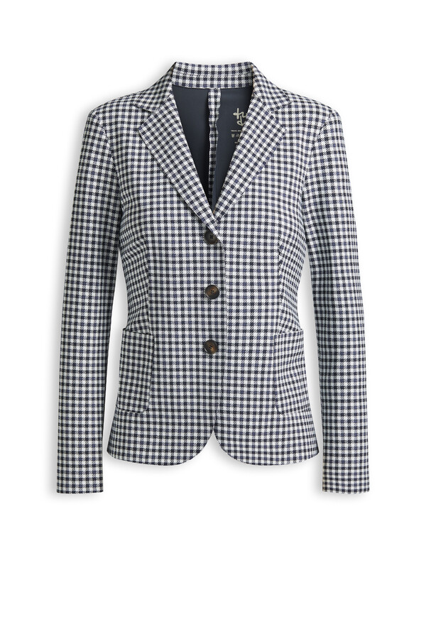 BLAZER PETIT CHECK BONDED STEEL GREY