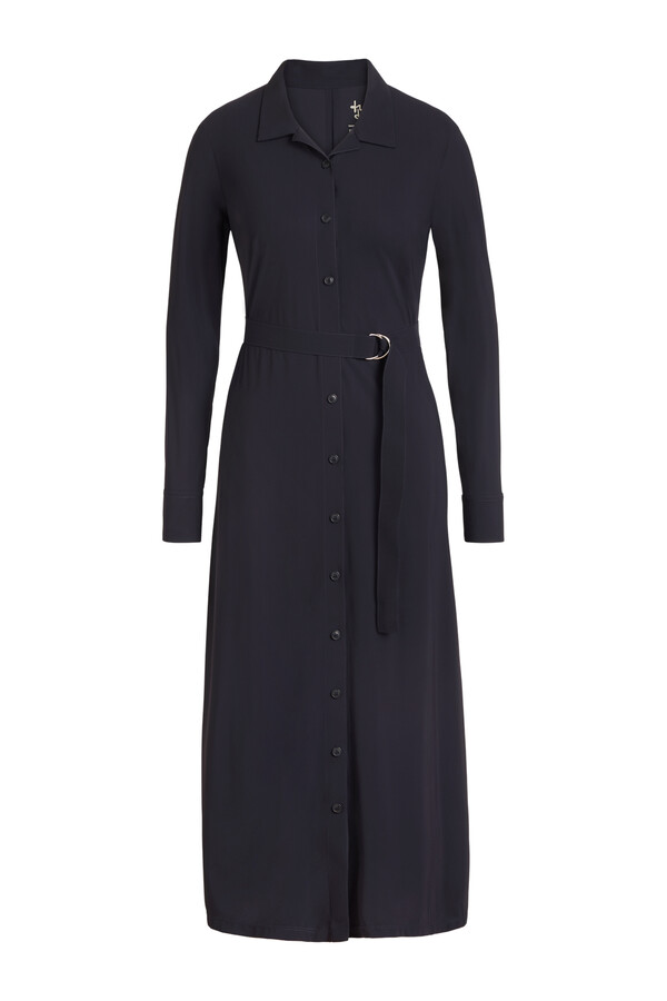 LONG SLEEVE SHIRT DRESS INK BLUE