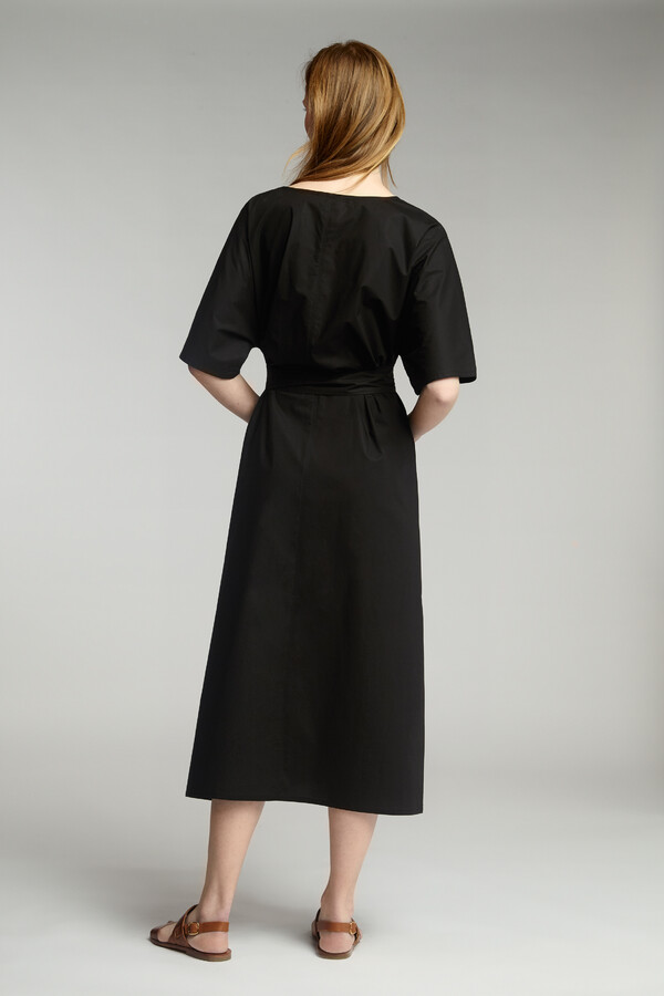RELAXED COTTON DRESS BLACK