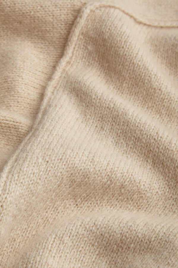 ECO CASHMERE SHORT SLEEVE CREW LATTE