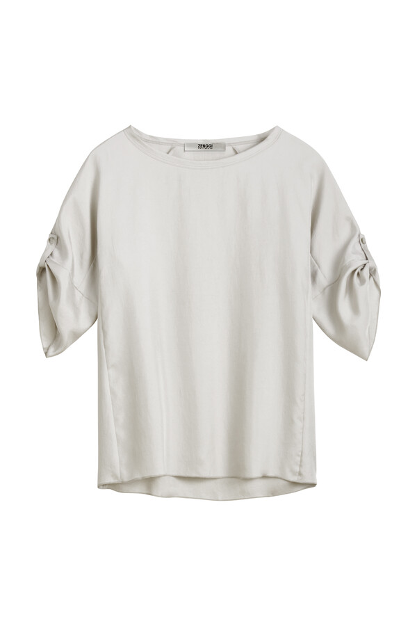 RELAXED SILKY TOP EGGSHELL