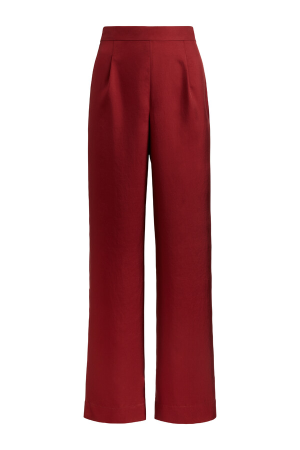 LOOSE FIT SILKY PANTS CARDINALE