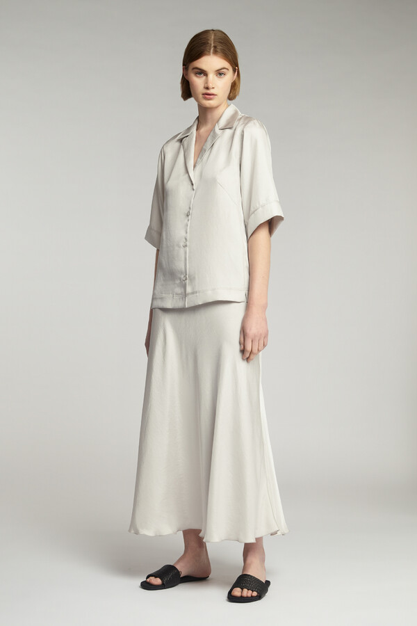 LONG SWAN SKIRT EGGSHELL