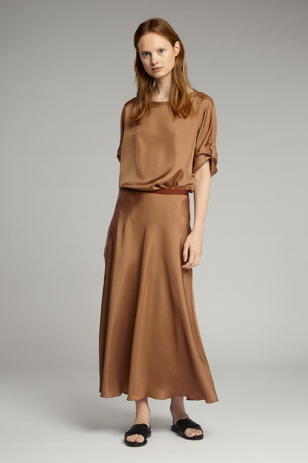 LONG SWAN SKIRT CARAMEL