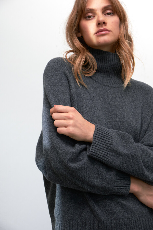 ECO CASHMERE TURTLE GREY