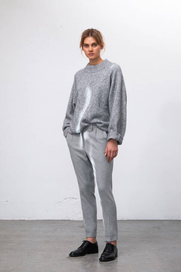 SOFT BRUSHED ALPACA KNIT MISTY GREY