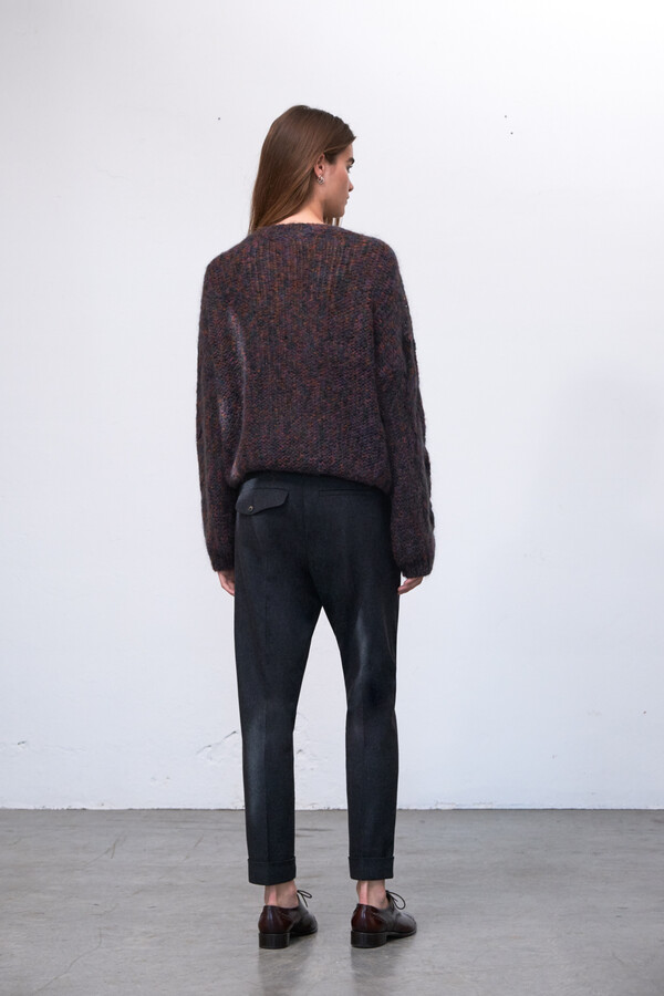 LIGHT WEIGHT CABLE KNIT MAROON