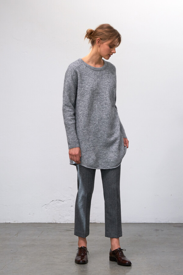 WOOL MIX DAISY PANTS GREY